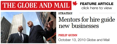 Globe and Mail Feature Article on Executive Mentors